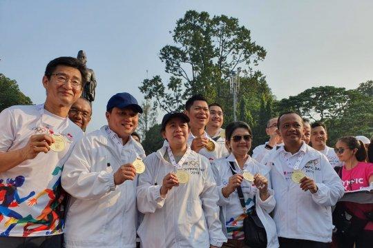 Ribuan pelari ramaikan Olympic Day Run di Senayan