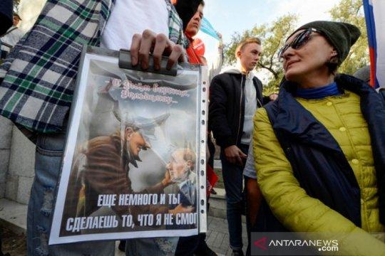 Warga Rusia akan turun ke jalan tuntut pemerintah bebaskan demonstran