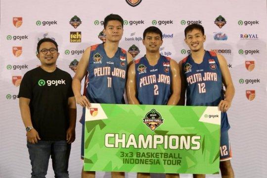 Cuma diperkuat tiga pemain, Pelita Jaya juarai IBL 3x3 Seri IV Bandung