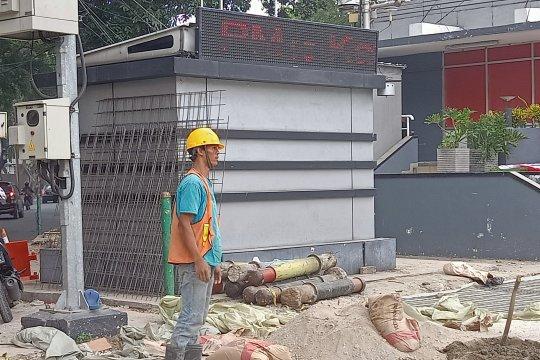 Senin siang, partikel udara Jalan MH Thamrin Jakarta berstatus sedang