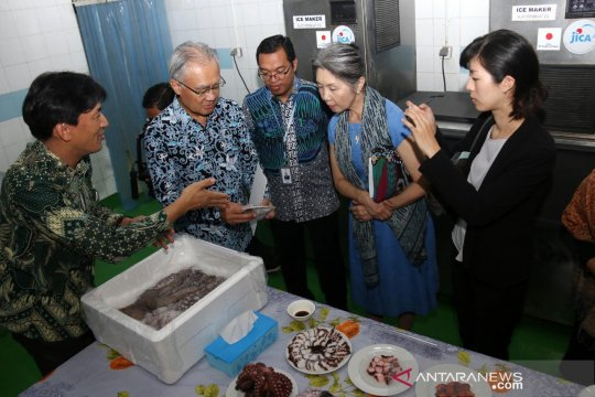 Dubes Jepang tinjau produksi pengolahan PT Perikanan Nusantara