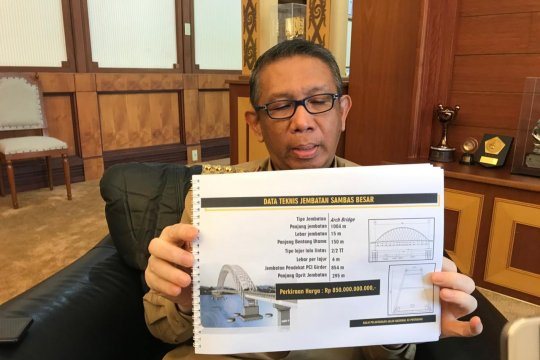 Gubernur :Tender Jembatan Sungai Sambas Besar dimulai September