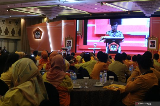 Para senior Golkar saksikan deklarasi dukungan Kosgoro untuk Airlangga