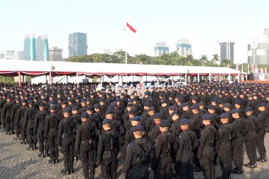 Parade dan atraksi meriahkan HUT ke 73 Bhayangkara