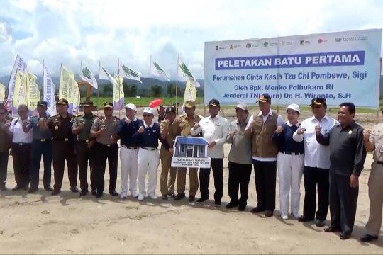 Menkopolhukam resmikan dimulainya pembangunan 1500 huntap di Sigi