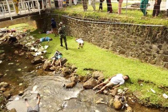 Simulasi penanganan gawat darurat bencana banjir bandang di Papua