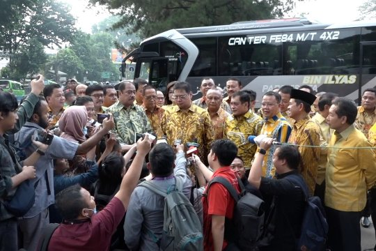 Ke Istana Bogor, Golkar beri selamat ke Jokowi