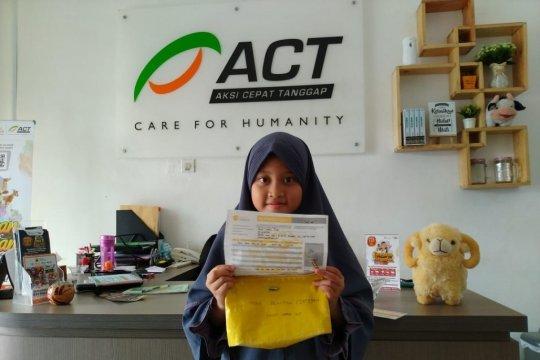 Bocah delapan tahun donasikan tabungannya berkurban untuk Palestina