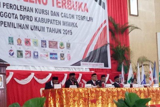 Daftar 35 calon terpilih untuk DPRD Mimika