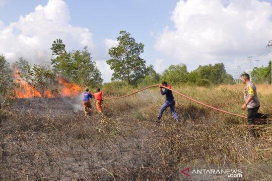 Dua hektare lahan di area perkantoran Pemkab Belitung timur terbakar