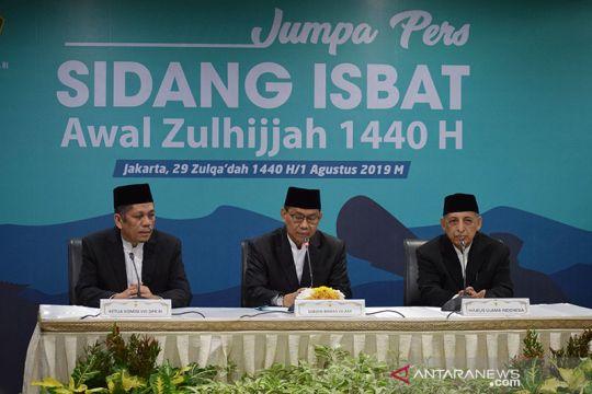 Idul Adha jatuh pada 11 Agustus