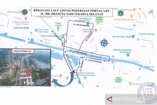 Rekayasa lalu lintas imbas proyek LRT mulai besok