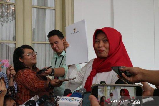 Baiq Nuril sampaikan terima kasih kepada Presiden Joko Widodo