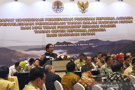Rapat koordinasi percepatan reforma agraria