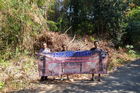 Polisi Bangka Barat sosialisasi cegah kebakaran hutan