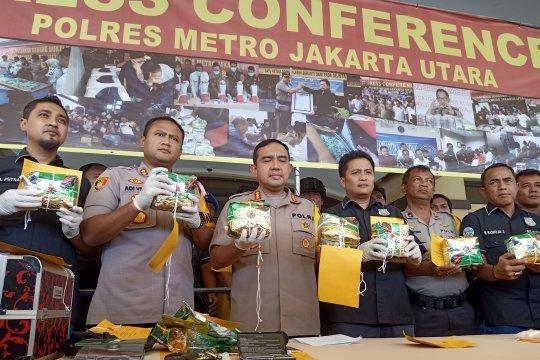 Polisi deteksi 200 gram sabu-sabu terdistribusi ke Kampung Bahari