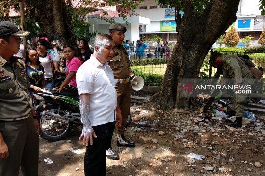 Kasatpol PP Medan disiram air panas saat tertibkan PKL