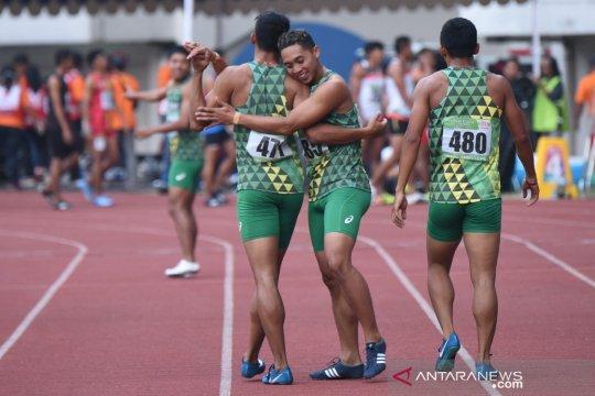 Nomor estafet tutup perolehan emas bagi Jatim di Kejurnas Atletik