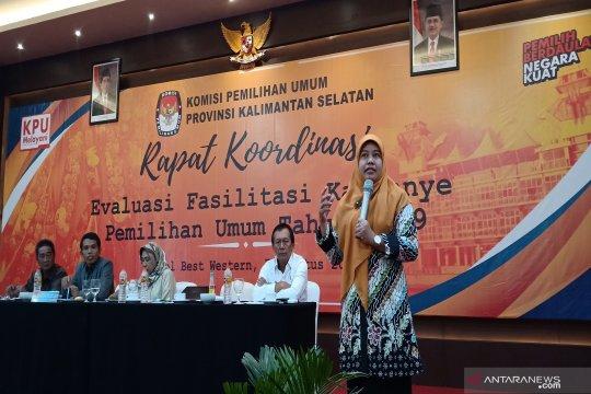 KPU Kalsel keluhkan tak maksimalnya pemanfaatan fasilitas kampanye
