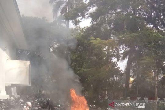 Kebakaran sepeda motor di parkiran Kemlu berhasil dipadamkan