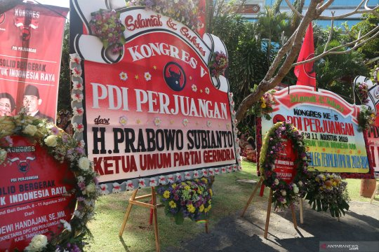 Prabowo Subianto hadiri Kongres V PDI Perjuangan