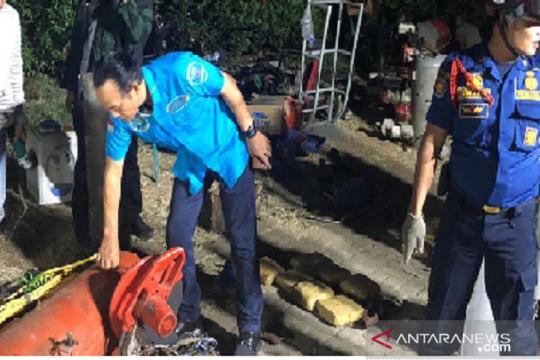 BNN tangkap empat tersangka beserta ratusan kilogram ganja