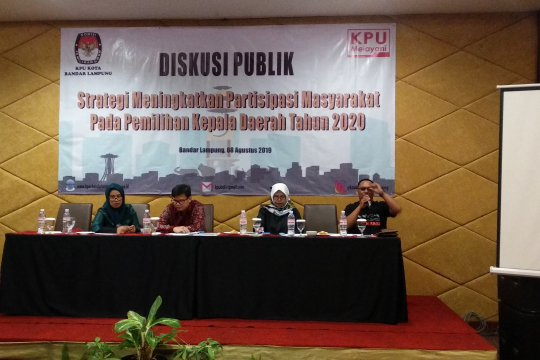 KPU Bandarlampung gelar diskusi publik tingkatkan partisipasi pemilih