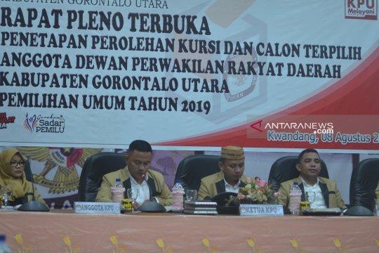 KPU tetapkan calon terpilih anggota DPRD Gorontalo Utara