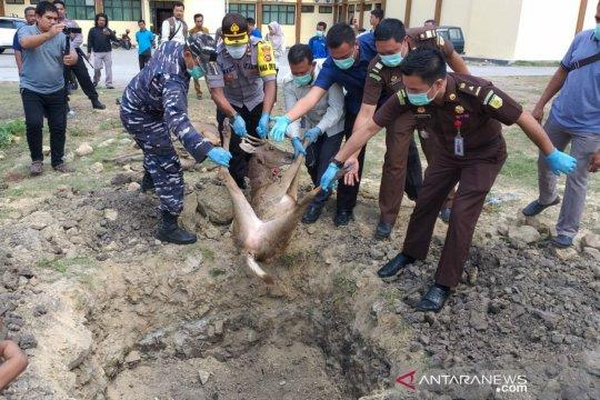 Polres Bima Kota musnahkan barang bukti perdagangan satwa lindung