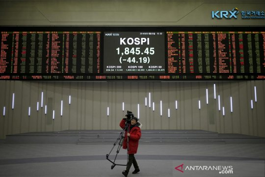 Saham Korsel turun untuk hari kedua, indeks KOSPI susut 0,24 persen