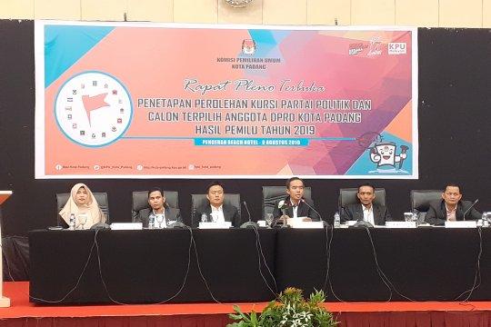 KPU Padang tetapkan 45 anggota DPRD Padang