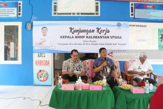 Kepala BNNP Kaltara yang baru kunjungi desa bebas narkoba di Sebatik