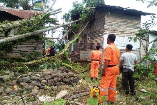 Tujuh unit rumah warga terdampak badai di Padang