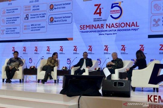Sejumlah menteri paparkan transformasi ekonomi menuju Indonesia maju
