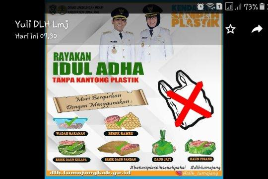 Di Lumajang pembagian daging kurban tidak boleh gunakan plastik