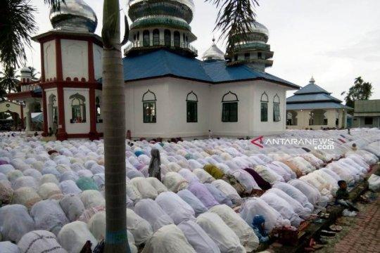 Jamaah Tarekat Syattariah di Nagan Raya Aceh sudah Shalat Idul Adha