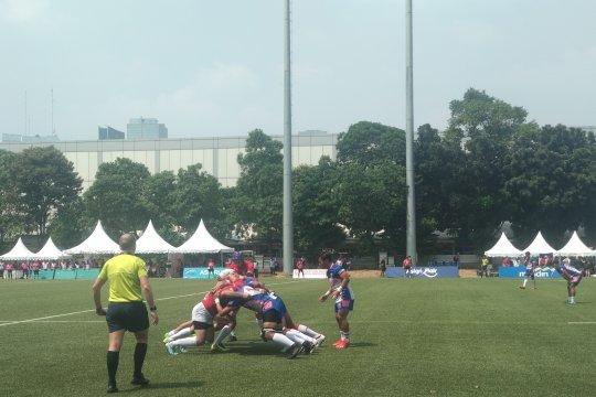 Timnas Rugbi putri benamkan Bangladesh 41-0