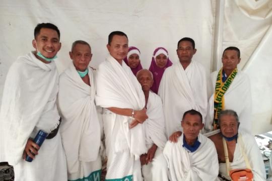 Jamaah Gorontalo Utara dalam kondisi sehat saat wukuf di Arafah