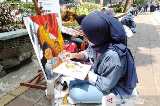 45 pelukis adu kemampuan di Festival Merah Putih Kebun Raya Bogor