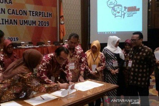 KPU Jateng tetapkan perolehan kursi dan calon terpilih DPRD provinsi