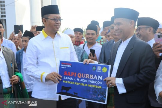 Presiden Jokowi serahkan hewan kurban seberat 1,3 ton untuk warga NTB