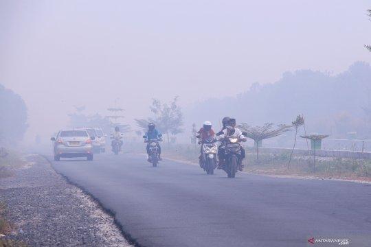 Kabut asap, jarak pandang di Palangka Raya kembali memburuk