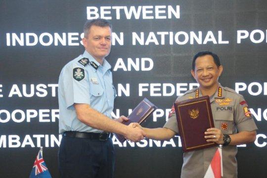 Indonesia dan Australia kerja sama berantas kejahatan lintas negara