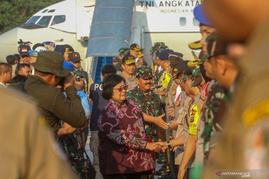 Menteri LHK, Panglima TNI dan Kapolri tinjau penangan Karhutla Riau