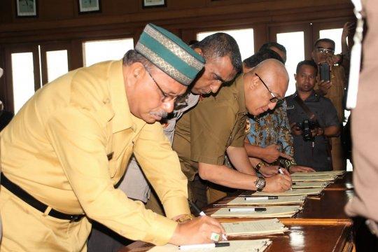 Pemda se-Maluku tanda tangani pencegahan korupsi dengan APH