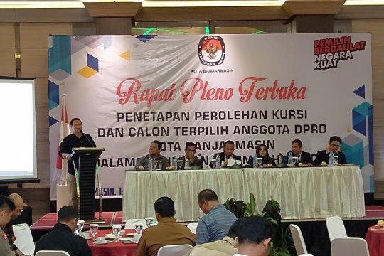 KPU Banjarmasin tetapkan 45 anggota DPRD periode 2019-2024