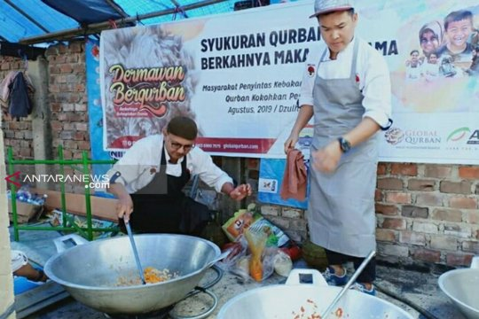 Komunitas koki sajikan olahan spesial di dapur kurban ACT Sumsel