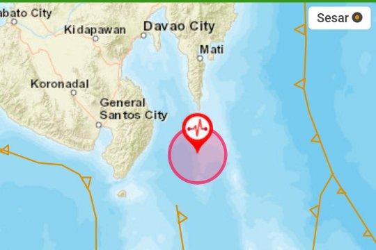 Barat laut Melonguane diguncang gempa magnitudo 5,1