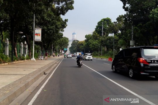Arus lalu lintas di sejumlah titik Jakarta Rabu pagi terpantau lancar