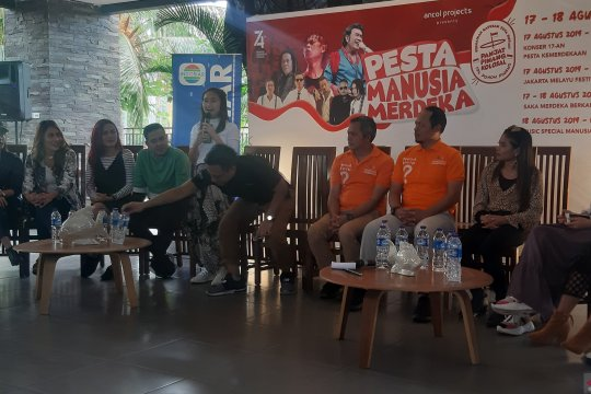 Gritte Aghata mengaku senang terlibat perayaan kemerdekaan di Ancol